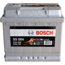 Аккумулятор BOSCH S5 63Ah 610A R+ (D15)
