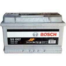 Аккумулятор BOSCH S5 74Ah 750A R+ (E38)