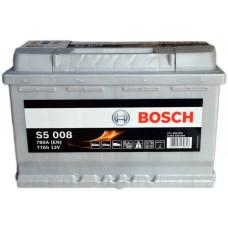 Аккумулятор BOSCH S5 77Ah 780A R+ (E44)