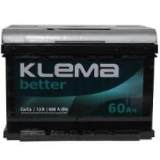 Аккумулятор Klema Better 60Ah 620A L+