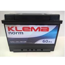 Аккумулятор Klema Norm 60Ah 540A R+