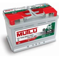 Аккумулятор Mutlu AGM 70Ah R+ 800A