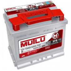 Аккумулятор Mutlu SFB 55Ah 600A R+ (низкобазовый)
