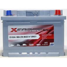Аккумулятор X-Forse 62Ah 600A R+