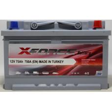 Аккумулятор X-Forse 75Ah 750A R+
