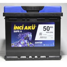 Аккумулятор INCI Aku SUPRA 50Ah 450A R+ (Низкобазовый)