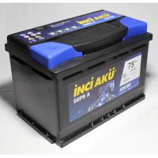 Аккумулятор INCI Aku SUPRA 75Ah 700A L+