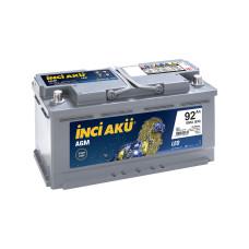 Аккумулятор INCI Aku AGM Start Stop 92Ah 850A R+