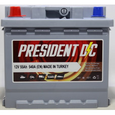 Аккумулятор President DC 55Ah 540A L+