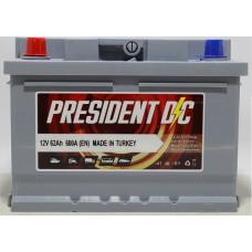 Аккумулятор President DC 62Ah 600A R+