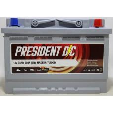 Аккумулятор President DC 78Ah 780A R+