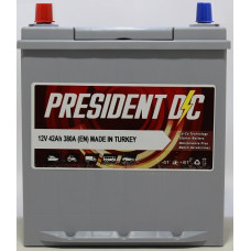 Аккумулятор President DC ASIA 42Ah 380A L+ (тонкая клемма)