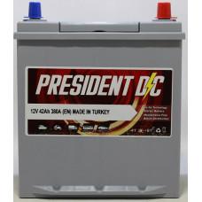 Аккумулятор President DC ASIA 42Ah 380A R+ (тонкая клемма)